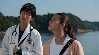 ドラマ「海の上の診療所」の武井咲、松田翔太